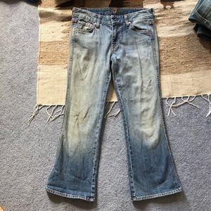 7 for all mankind cropped jeans sz 27